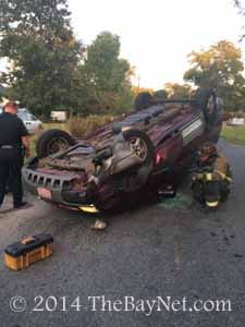 Hollywood rollover results in no injuries to driver